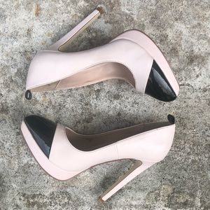 Signature Shoes - Signature Diedra Pumps Size 7 Pink Black Stiletto